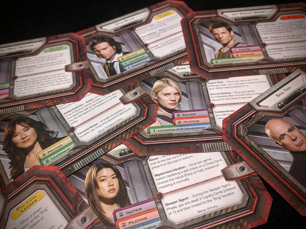 Battlestar Galactica Character Cards