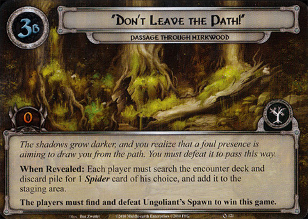 Don't Leave the Path