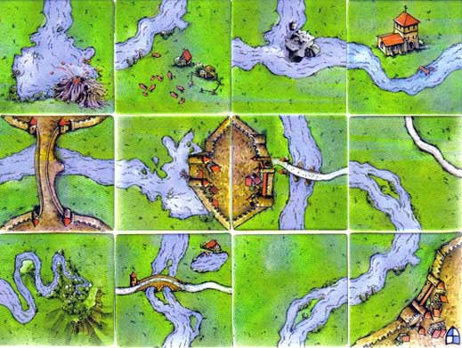 Carcassonne The River II Tiles