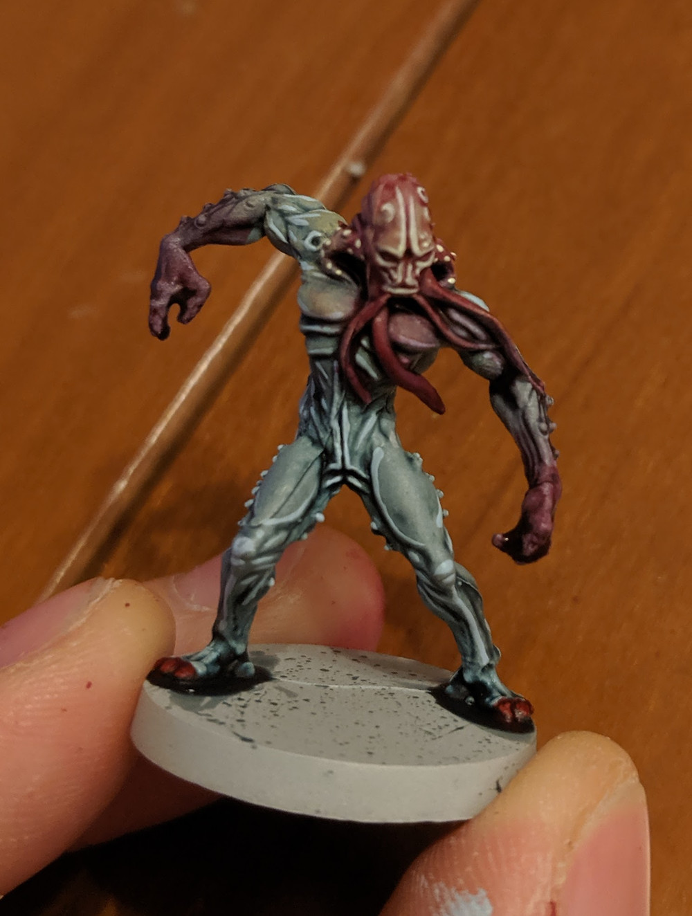 Zombicide Invader - Worker Xeno - Menoth White Highlight