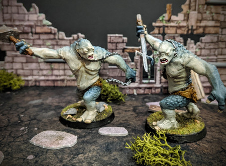Painting Cave Trolls