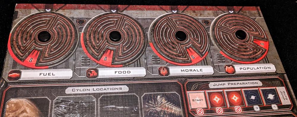 Battlestar Galactica Resource Dials