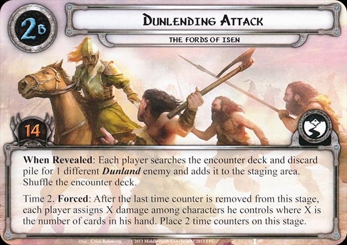 Dunlending Attack, LOTR LCG, FFG