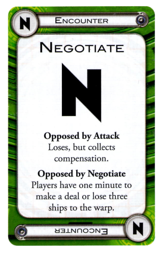Negotiate Card, FFG, Cosmic Encounter