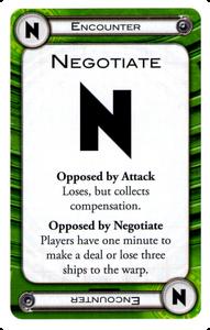 Negotiate Card, FFG, Cosmic Encounter