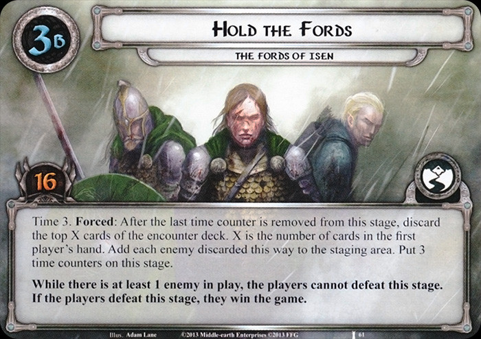 Hold the fords, LOTR LCG, FFG