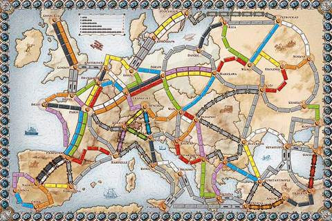 Ticket to Ride Europe Map