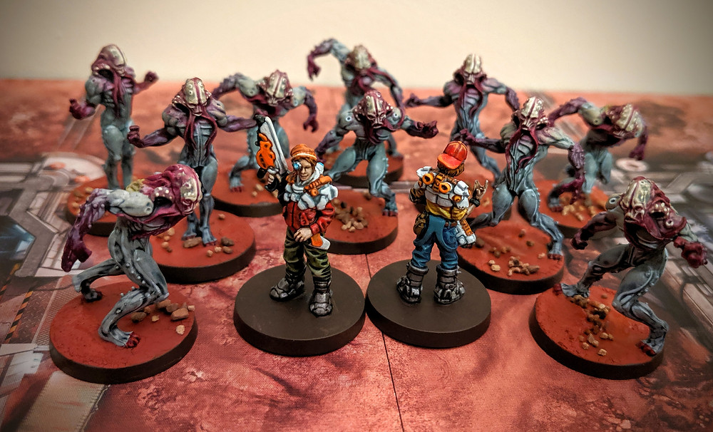Zombicide Invader - Orphan Gang, Clops, Ink, Xeno Workers