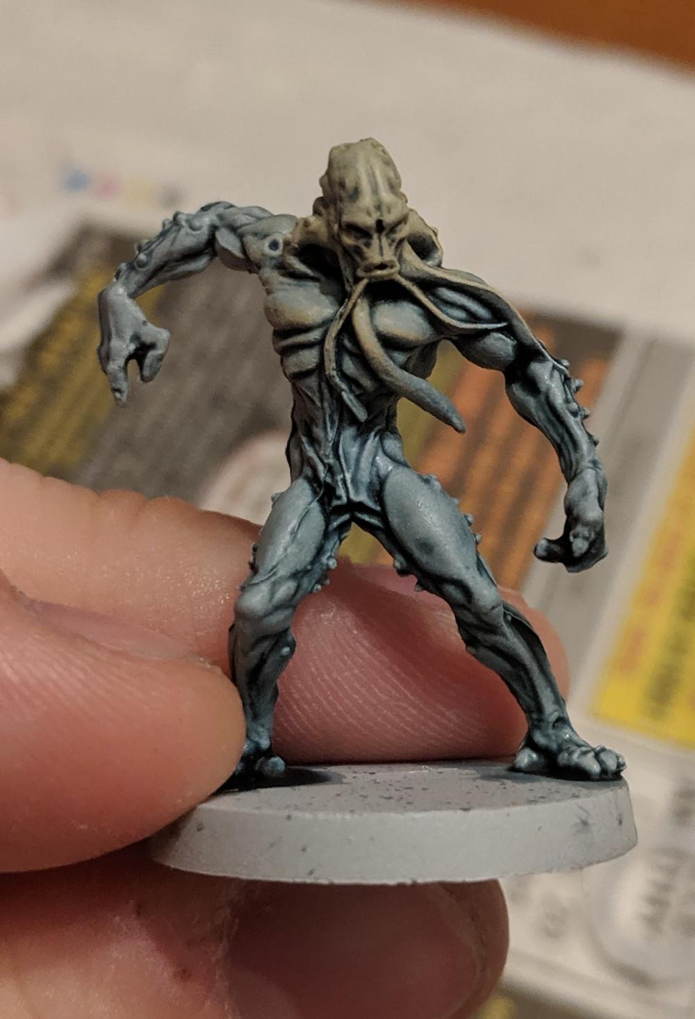 Zombicide Invader - Worker Xeno - Menoth White Base