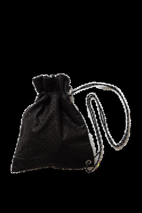 leather shoulder bag ~black ~