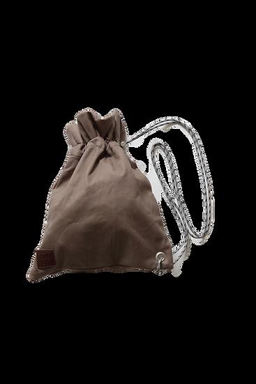 leather shoulder bag ~L/Grey~