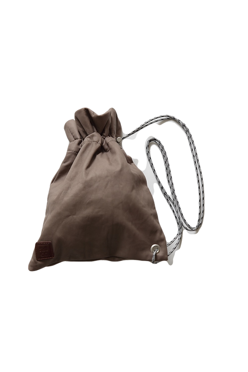leather shoulder bag ~beige ~