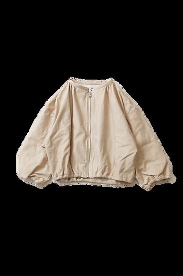 Cropped Gather Jacket~MACADAMIA~