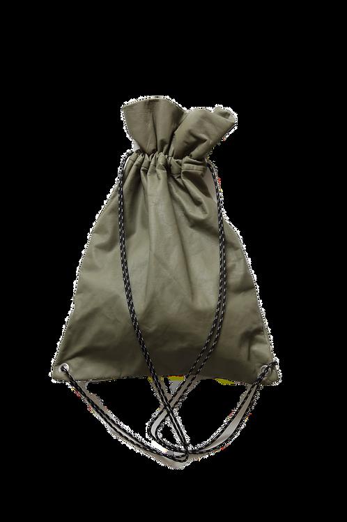 leather shoulder bag ~khaki ~
