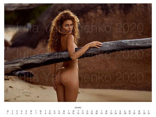 Julia Yaroshenko Nude calendar 2020