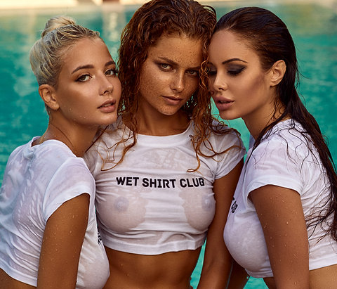 "T-shirt  ""WET SHIRT CLUB"""