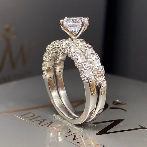 Twin Ring Double Band Solitaire