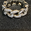 Thumbnail: Diamanté  Band Solid Silver Premium Quality Crystals.