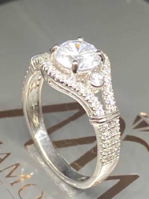 Round stone Designer Band 24 Diamond Ring