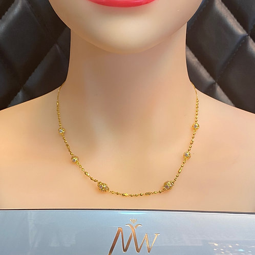 22CT GOLD MALA NECKLACE DESIGN 1