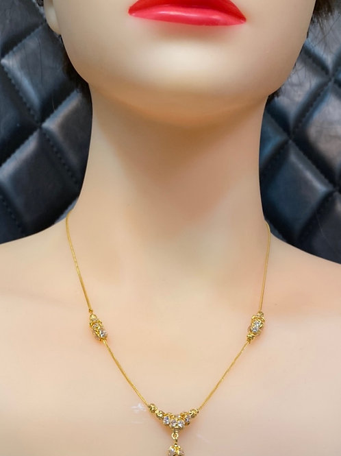 22CT GOLD MALA NECKLACE DESIGN 5