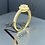 Thumbnail: 22ct Gold Princess Single Halo
