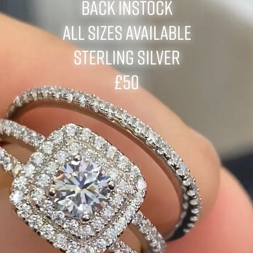 DOUBLE BAND PRINCESS CUT WITH HALO