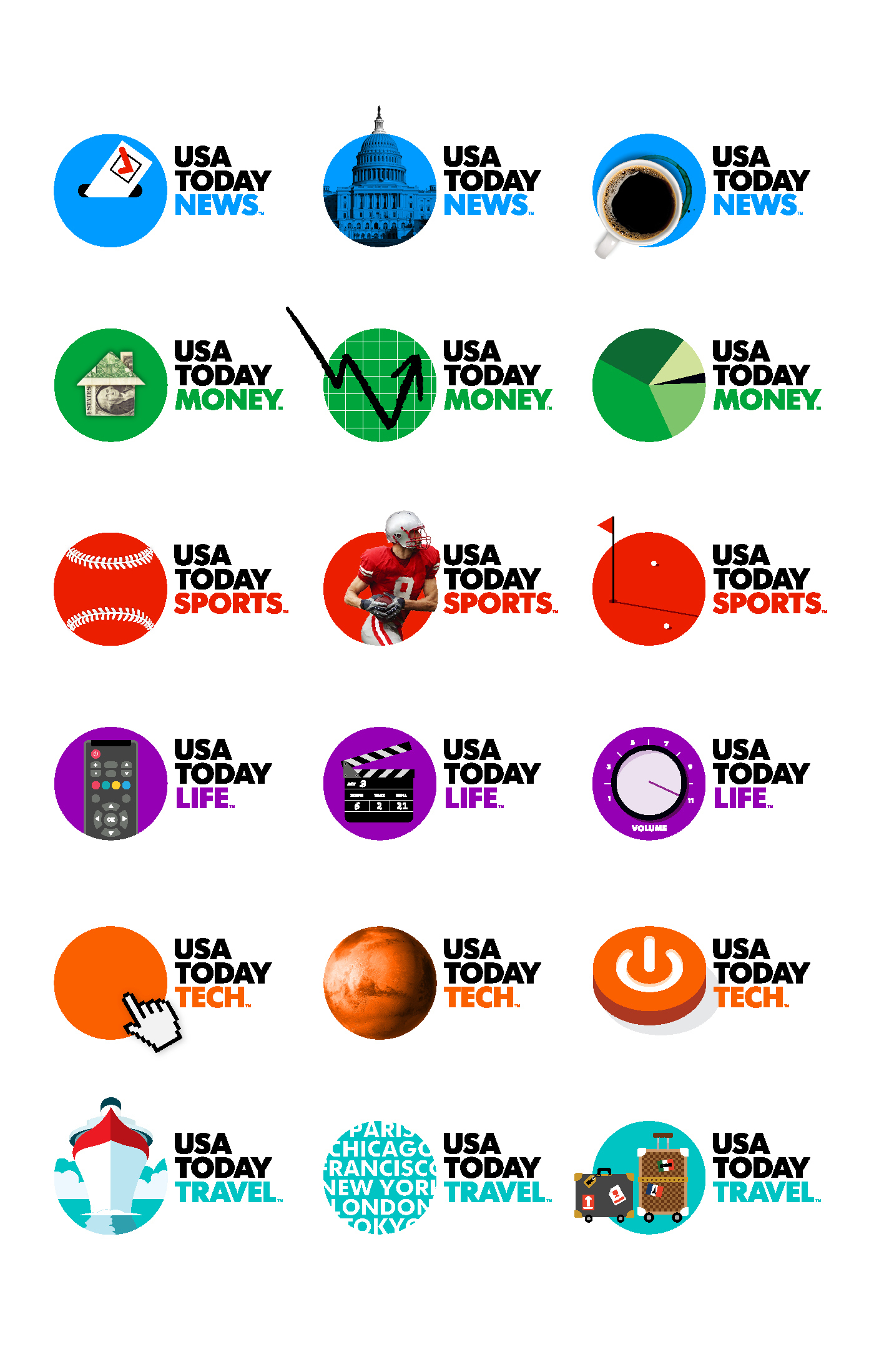 USA TODAY dynamic logo examples