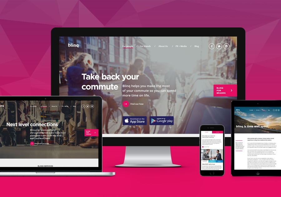 Responsive website dev for blinq US