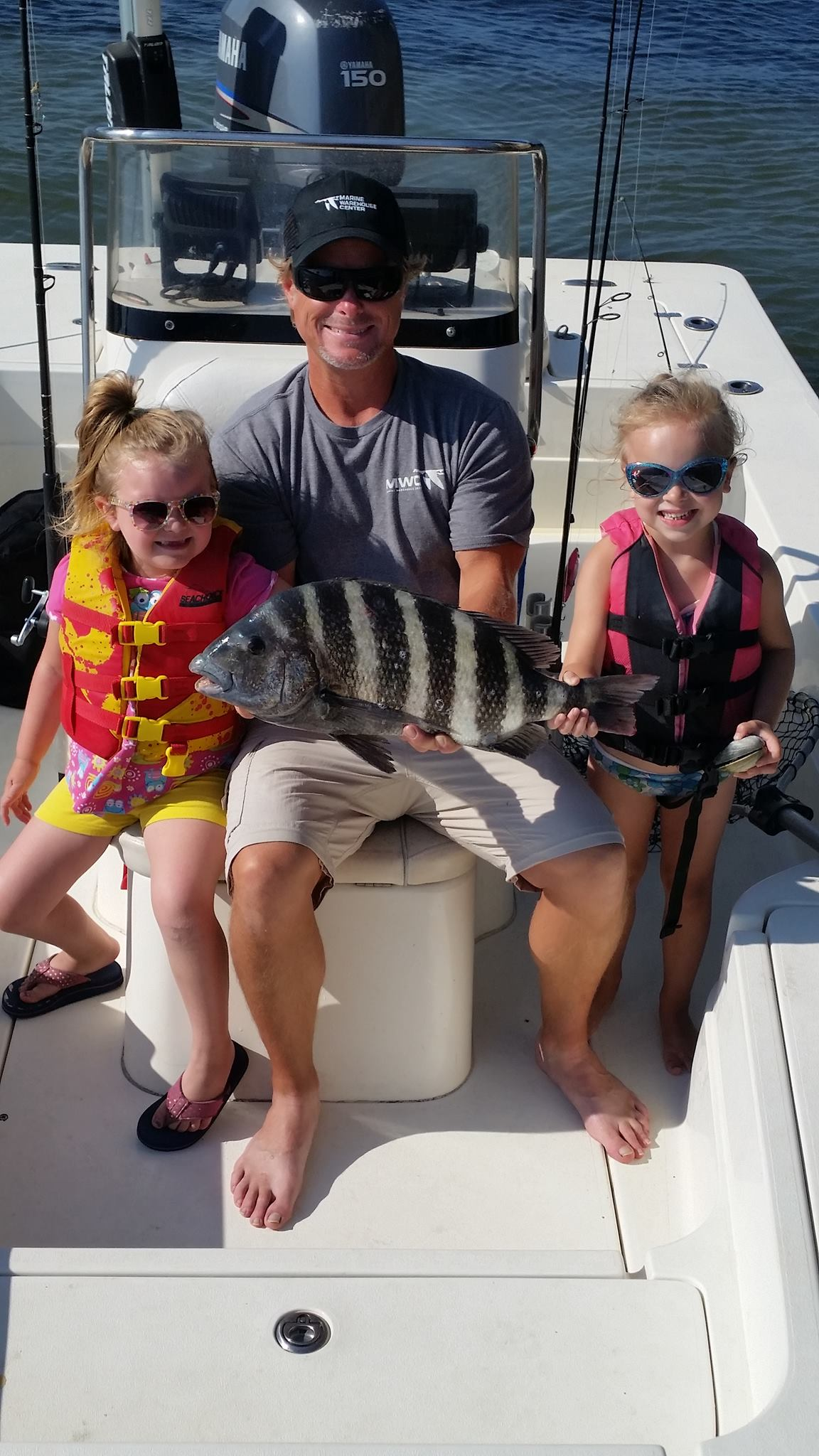 clark family with sheepshead