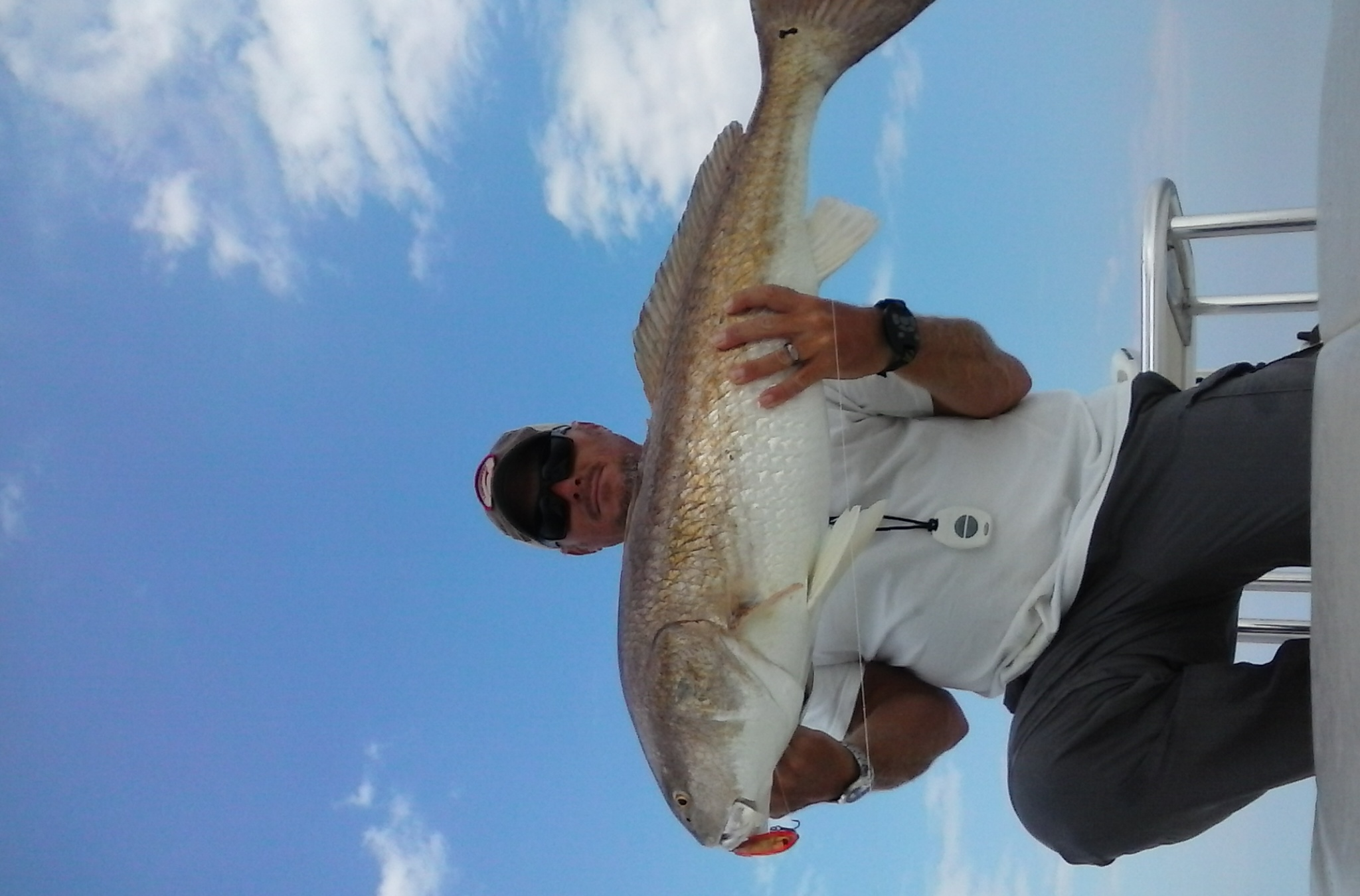 rennie clark with big redfish