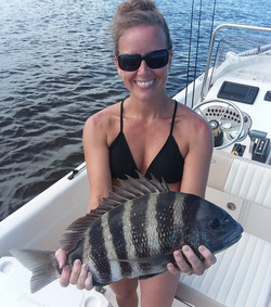 Shannon clark with fish