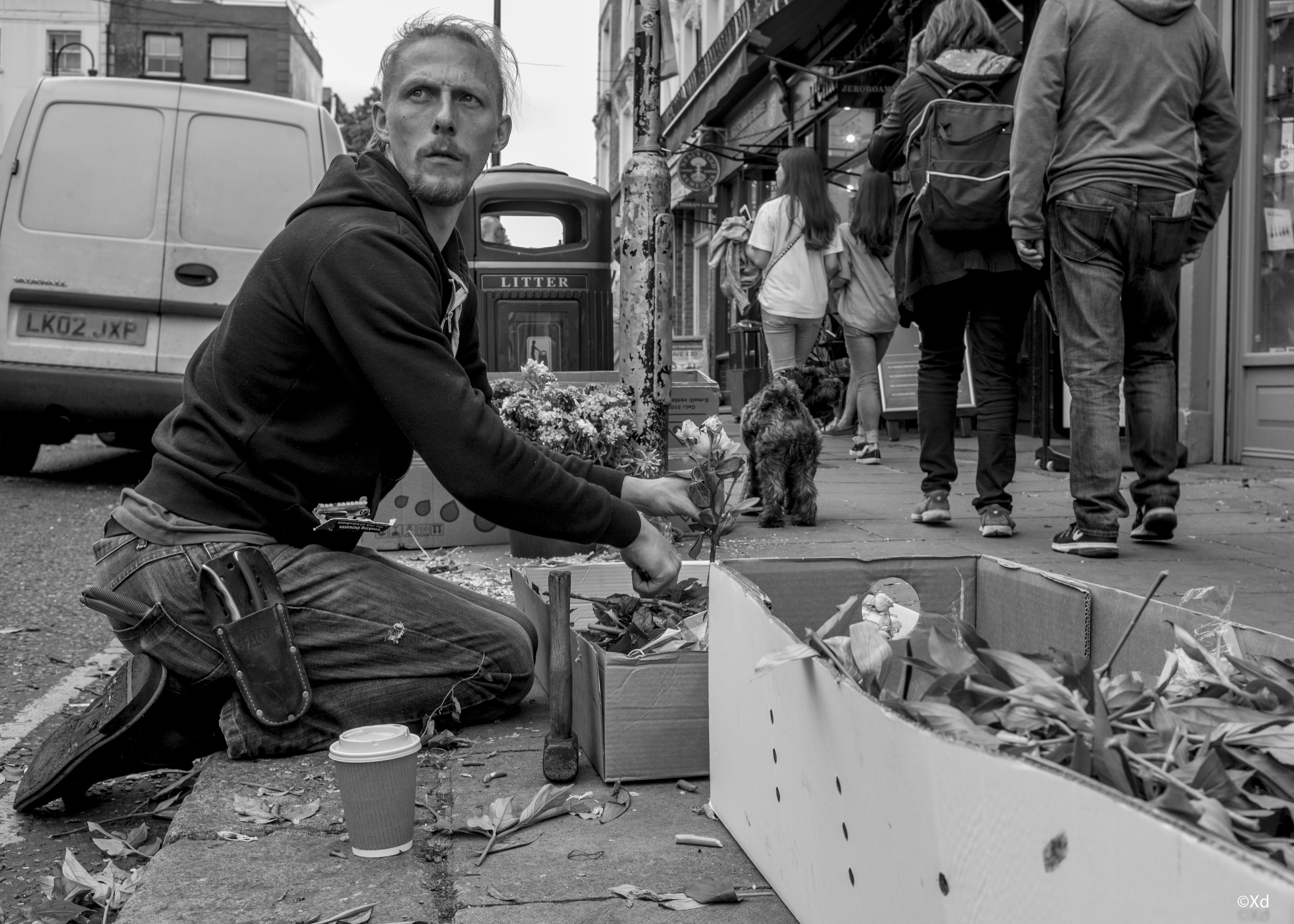 the rose seller, 2018, London-1