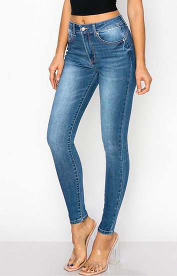 Medium Blue Stretch Skinny Jeans