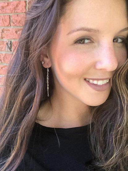 Sterling Silver Waterfall Chain Earrings