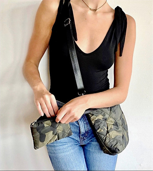 Quilted Camo CrossbodyPurse