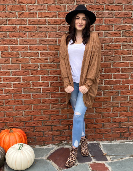 Gorgeous Camel Cardigan provides a great foundation for any cooler weather outfit!