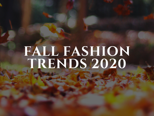 Fall 2020 Fashion Trends