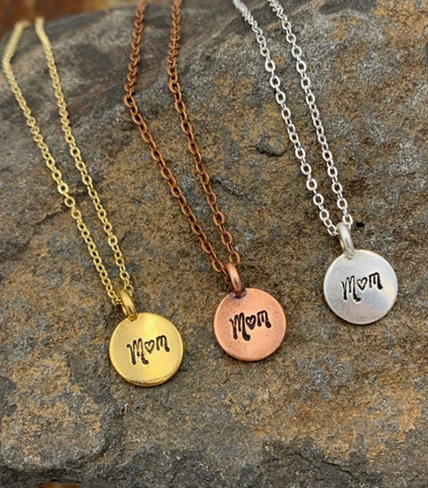 Mom Disc Necklace