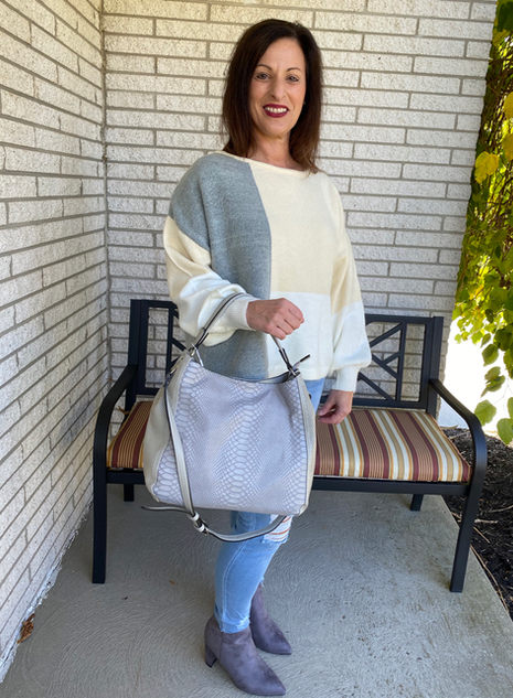 Cozy and Casual Colorblock.