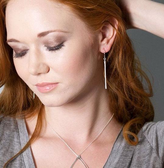 Sterling Silver Stem Earrings