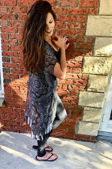 Paisley Stripe Kimono