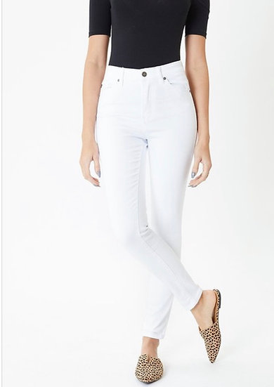 Missy White Super Skinny High Waisted Stretch Jeans