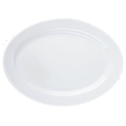 Fuente Ovalada De 32 cm X 23 cm Restaurant White Luminarc