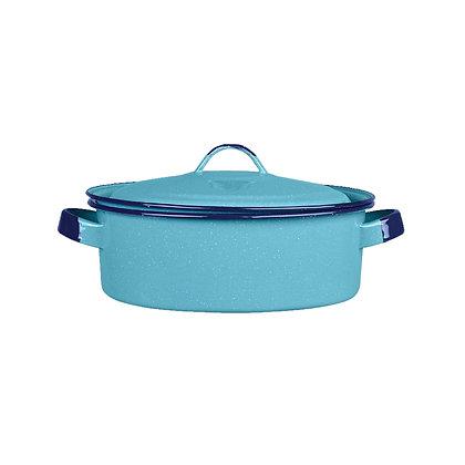 Budinera Con Tapa De 26 cm Azul Turqueza Cinsa