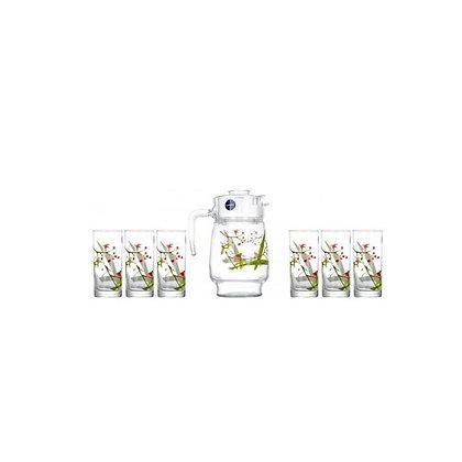 Set De 1 Jarra y 6 Vasos Beatitude Luminarc
