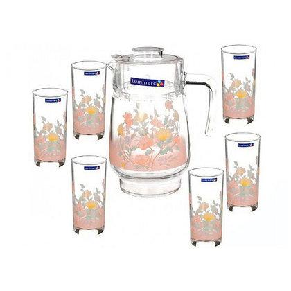 Set De 1 Jarra y 6 Vasos Elise Luminarc