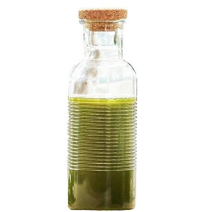 Botella De Vidrio Con Tapa Tipo Corcho De 1 Lts Hoop Pasabahce