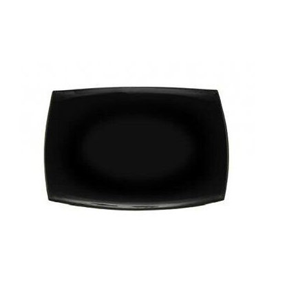Fuente Rectangular De 35 cm Quadratto Negra Luminarc