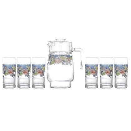 Set De 1 Jarra y 6 Vasos Florine Luminarc